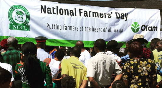 Celebrating National Farmers' Day in Zambia by hosting an agricultural fair, Olam.